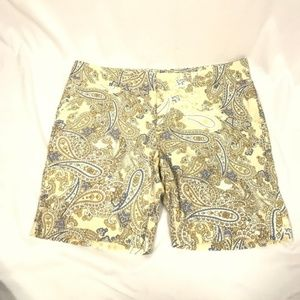 Tommy Hilfiger Light Blue Golden Paisley Shorts